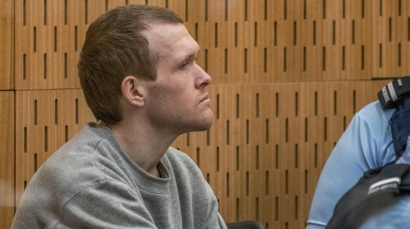 Australian white supremacist Brenton Tarrant attends his third day in court for a sentence hearing in Christchurch on August 26, 2020.(AFP)