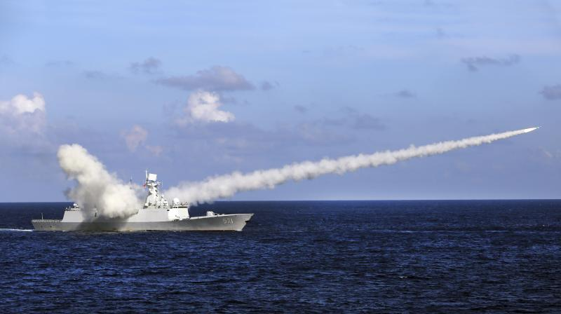 The DF-26B and DF-21D missiles fired Wednesday targeted an area between the southern island province of Hainan and the Paracel Islands.(AP File)