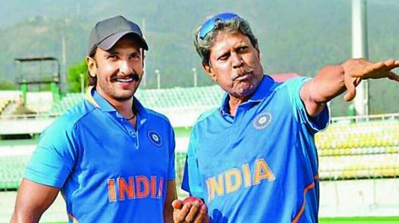 Ranveer Singh and Kapil Dev