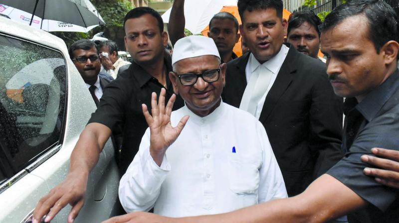 As a precautionary measure, Hazare's routine check-ups are being conducted and he has been advised complete rest, he said, adding that the activist is likely to be discharged by Wednesday evening. (Photo: Debashish Dey)