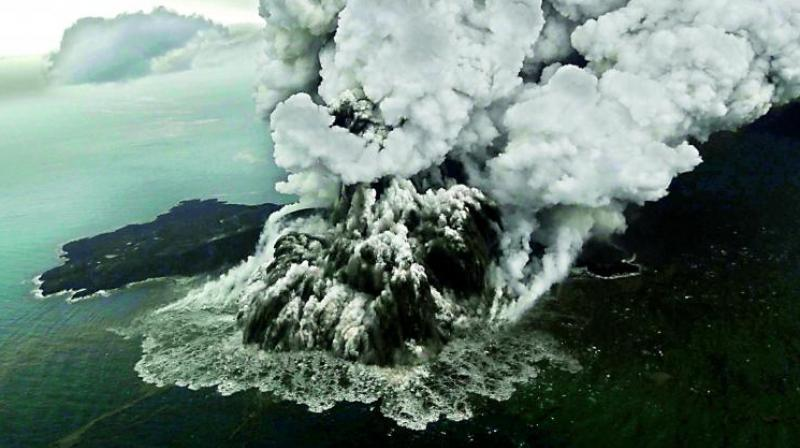 A tsunami without warning, triggered by a chunk of the Anak Krakatau volcano slipping into the ocean, ripped into parts of Indonesia, taking lives and destroying structures and turning homes upside down for thousands of people. (Photo: AFP)