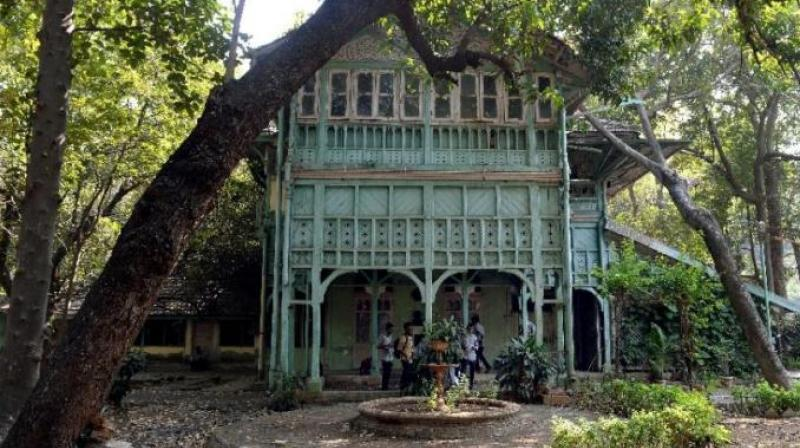 "The ""Kipling Bungalow"" is one of several mansions in Mumbai, once associated with famous residents but now in ruin. (Photo: AFP)"