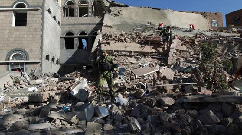 Yemen this month marks two years since a Saudi-led Arab coalition intervened in support of government troops in the conflict. (AFP)