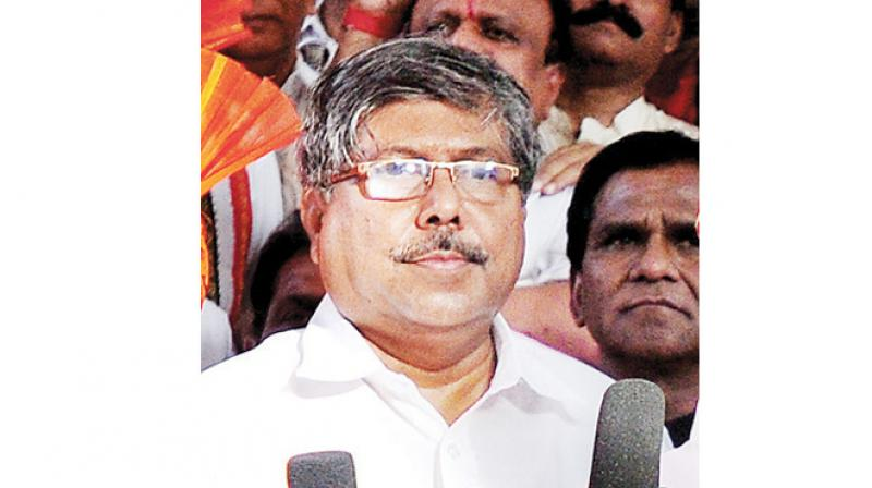 Bharatiya Janata Party (BJP) state president and revenue minister Chandrakant Patil