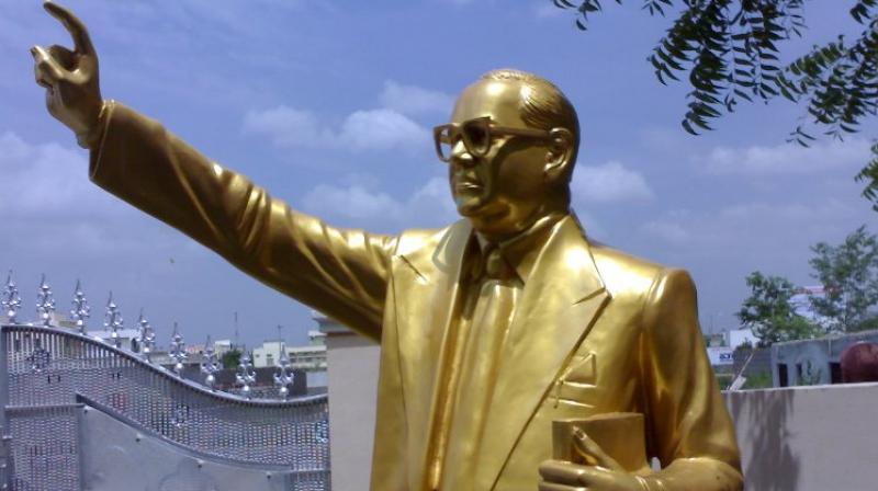 A statue of B R Ambedkar was found vandalised in the Ambedkar Park in Mathura, (Photo: Representational   PTI)