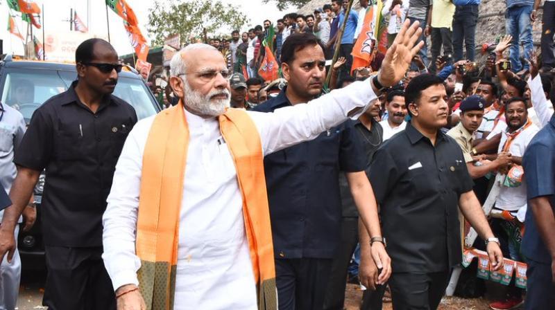 PM Narendra Modi in Odisha. (Photo:ANI/Twitter)