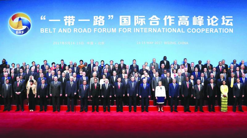 China succeeded in bringing together various countries together on one platform for the OBOR project President Xi Jinping with leaders and delegates attending the Belt and Road Forum in Beijing. (Photo: AP)