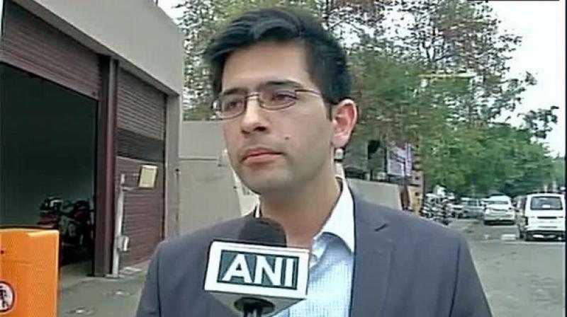 'The election of the BJP candidate Ramesh Bidhuri is vitiated by the corrupt practices of undue influence committed by the candidate inasmuch as by failing to disclose material particulars regarding his criminal antecedents, the BJP candidate has affected the free exercise of electoral rights of the citizens of the National Capital Territory of Delhi,' Raghav Chadha's petition stated. (Photo: ANI)