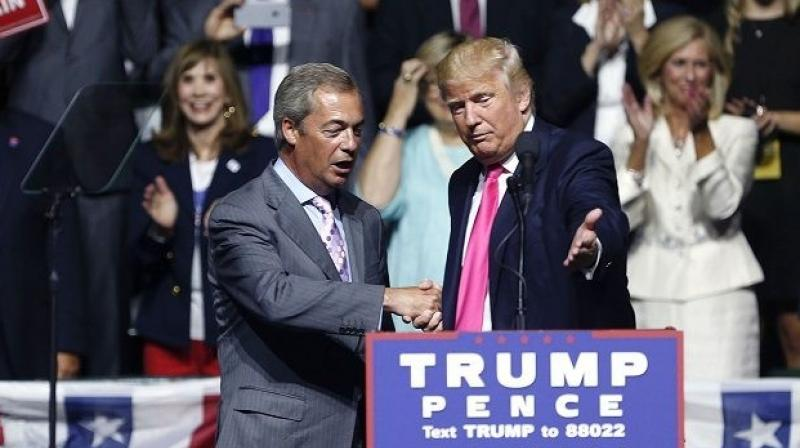 Donald Trump and Nigel Farage, the leader of the UK Independence Party, share a very good relationship. (Photo: AP)