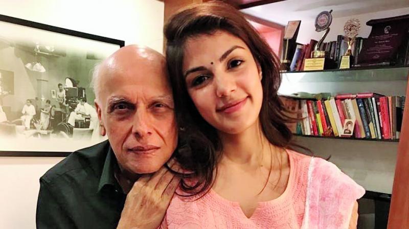 Mahesh Bhatt and Rhea Chakraborty