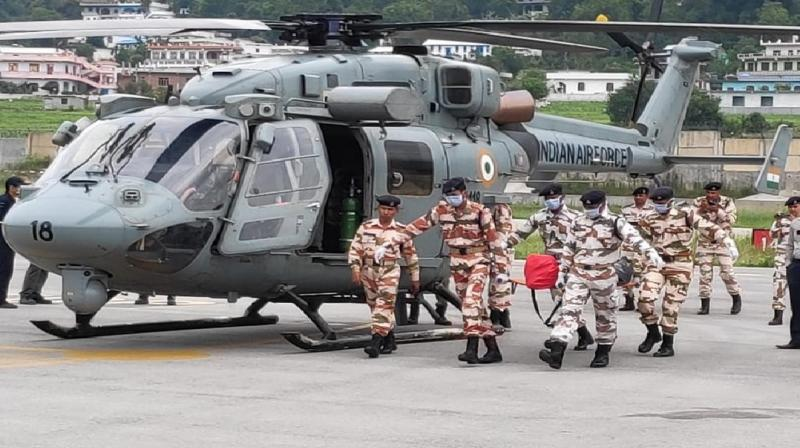 Forces used two IAF choppers - Cheetah - for carrying out the operation. (Photo: ANI)