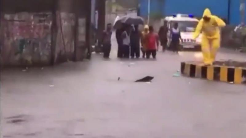 The latest video of a Mumbai police officer rescuing a dog from drowning will reaffirm your faith in humanity. (Photo: Screengrab)