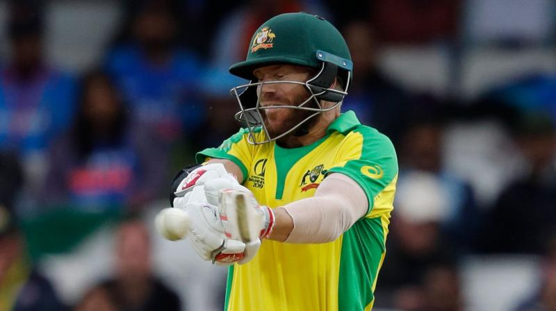 David Warner's strike rate of 66.66 in the 36-run loss at the Oval was almost 30 points below his career average of 95.47 in the 50-overs format. (Photo:AFP)
