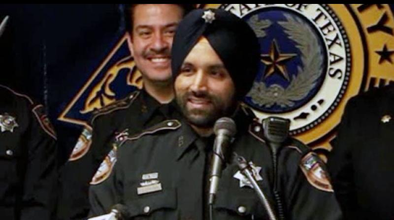 Sandeep Singh Dhaliwal, Harris County Sheriff's deputy, was shot while conducting a traffic stop, Sheriff Ed Gonzalez said. (Photo: Twitter)