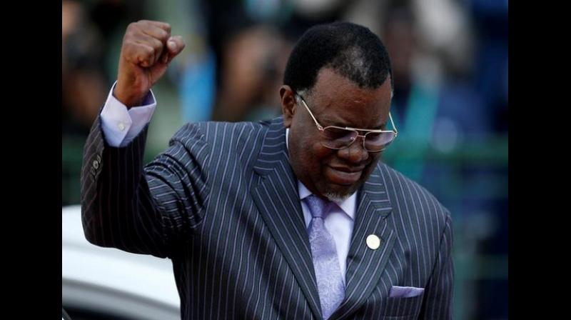 Geingob secured 464,703 votes, while independent candidate Panduleni Itula, who stood second, received 242,657 votes, Electoral Commission of Namibia (ECN) said. (Photo: ANI)