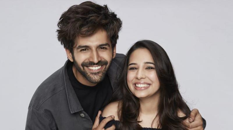 Kartik Aaryan with his sister Kritika.