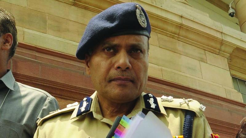 Police commissioner Amulya Patnaik at Parliament House on Wednesday. (Photo: PRITAM BANDYOPADHYAY)