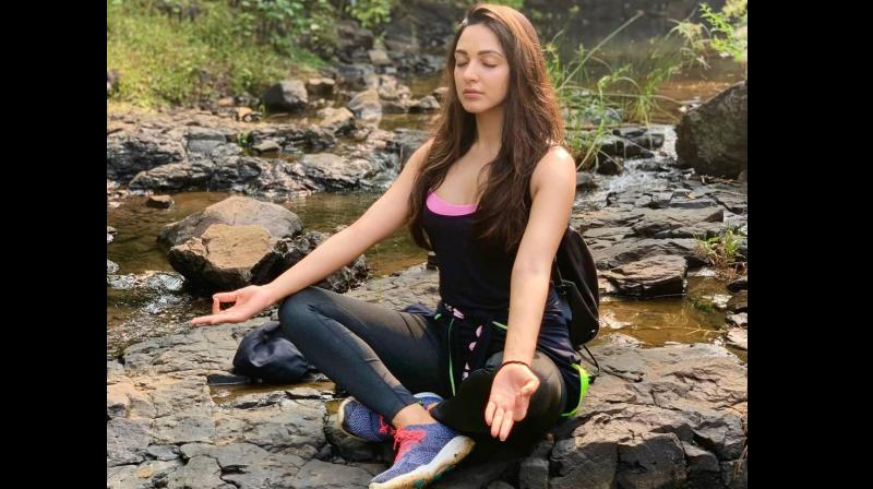 Kiara Advani doing pranayama and exploring various jungle trails
