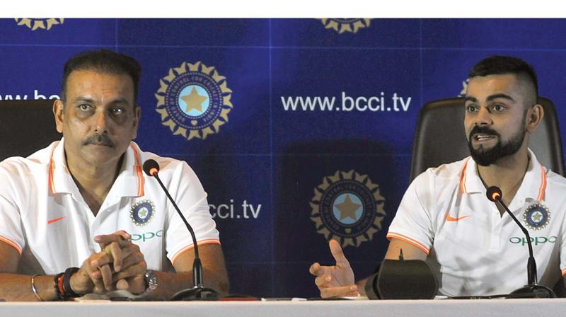 India coach Ravi Shastri and skipper Virat Kohli (Photo: Biplab Banerjee )