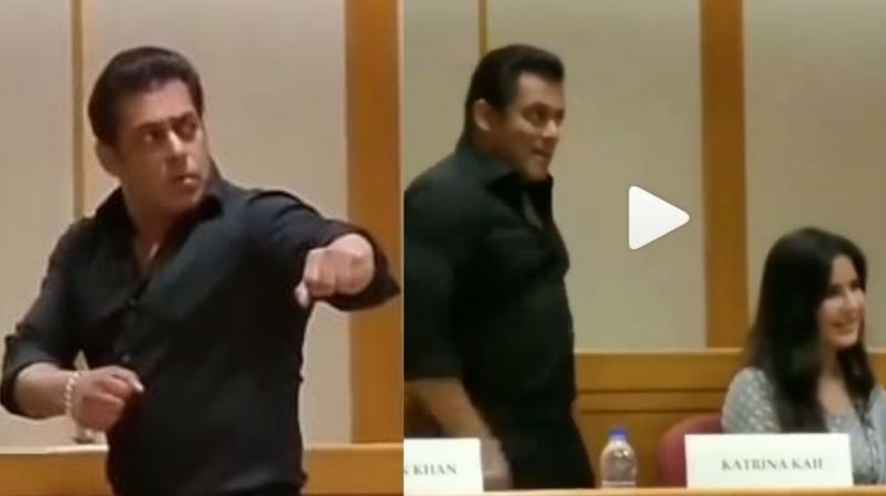 Salman Khan in screenshots from the video.