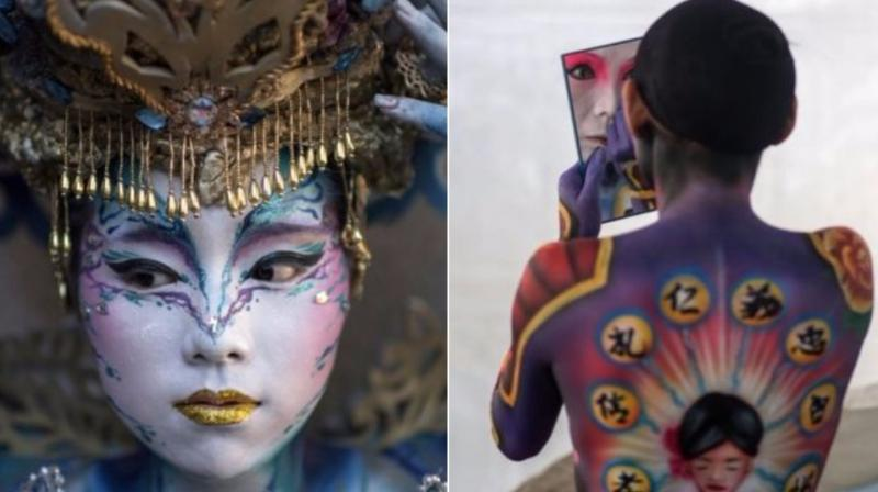 Artists Show Off Talent At Daegu International Body Painting Festival In Seoul