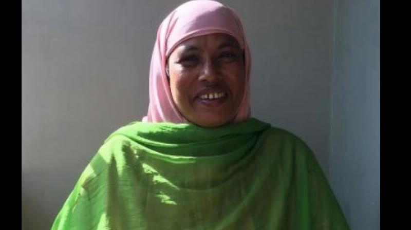 Manipur's first Muslim woman candidate Najima Bibi. (Photo: Facebook)