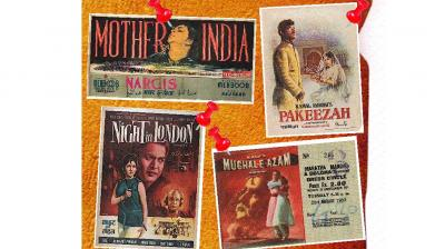 An auction of vintage Bollywood publicity material and memorabilia was held by the Osian's Auction House.