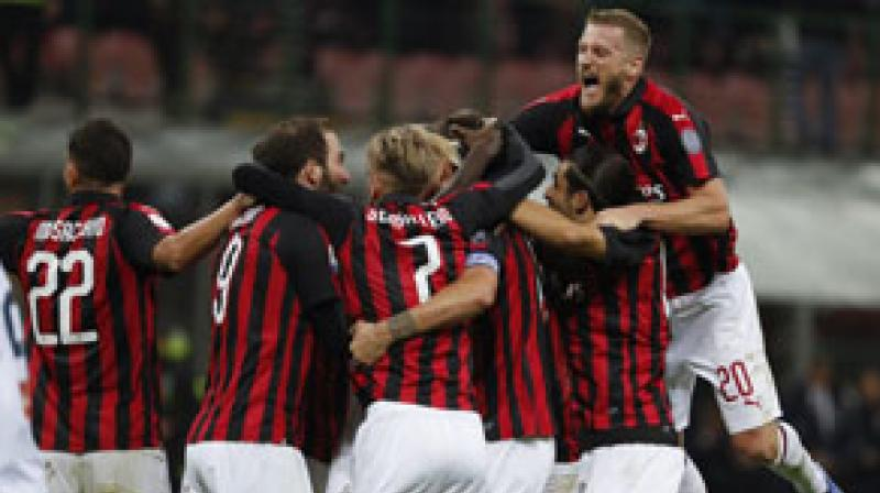 Milan stayed fourth, the lowest Champions League slot, with 52 points but have taken one point from their last nine and have Lazio lurking four points behind with two games in hand. (Photo: PTI)