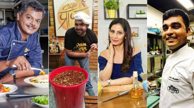 From left to right: Chef Tilak Vel, Chef Rahul Arora, Chef Meghna Kamdar and Chef Liton Bhakta