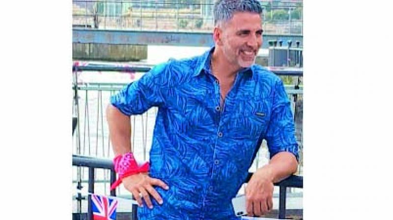 Akshay Kumar sports a salt and pepper look in the movie Housefull 4