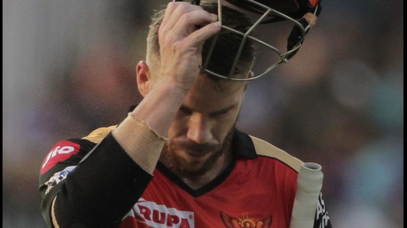 Sunrisers' skipper David Warner appreciates the franchise's gesture. AP Photo