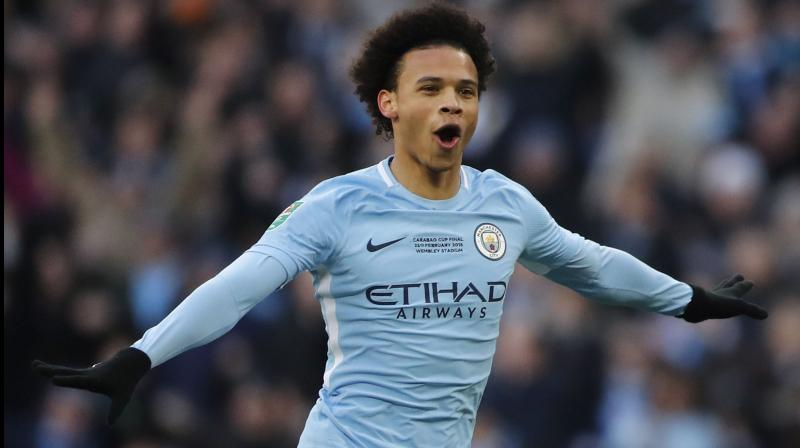 Manchester City's Leroy Sane. AFP Photo