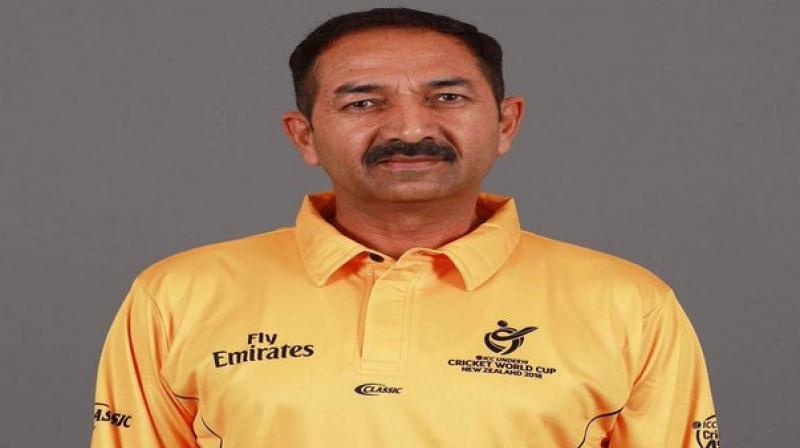 Cricket umpire Anil Chaudhary. Twitter Photo