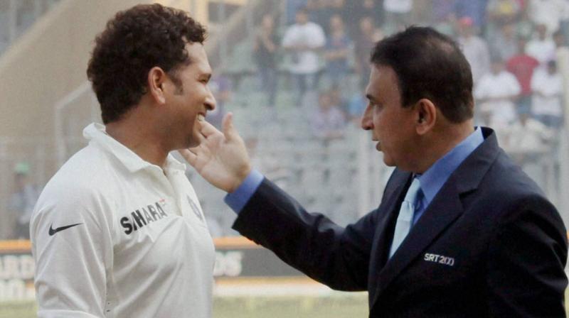 TWIN MASTERS OF MUMBAI: Sunil Gavaskar and Sachin Tendulkar. PTI Photo