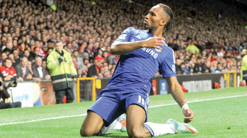 Chelsea's Ivorian striker Didier Drogba. AFP Photo