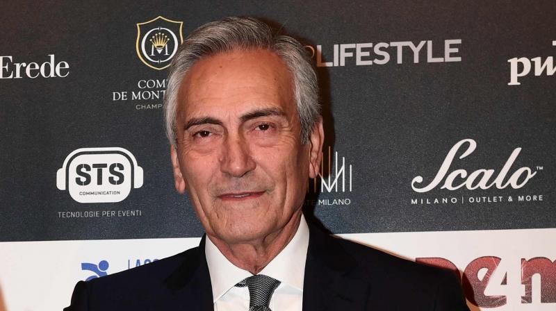 Italy's Football Association president Gabriele Gravina. AFP Photo