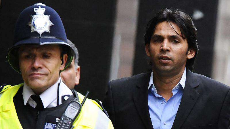 Former Pakistan pace bowler Mohammad Asif at the Westminster Magistrates court in central London, on March 17, 2011. AFP Photo