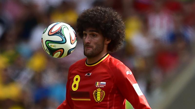 Belgium's midfielder Marouane Fellaini. AFP Photo