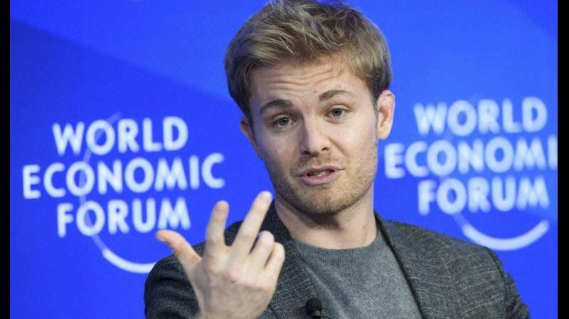 Formula 1 World Champion Nico Rosberg speaks during a panel discussion at the 47th annual meeting of the World Economic Forum, WEF, in Davos, Switzerland. AP Photo