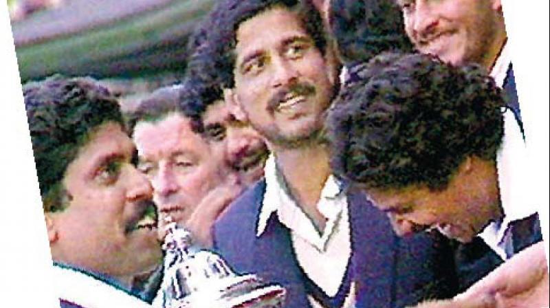 TWO FROM THE '83 VICTORS: Kapil Dev and Krishnamachari Srikkanth. DC File Photo