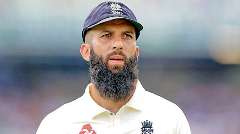 Moeen Ali with England Test captain Joe Root. DC File Photo