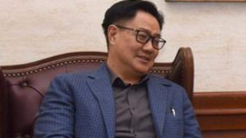 Sports minister Kiren Rijiju. Twitter Photo