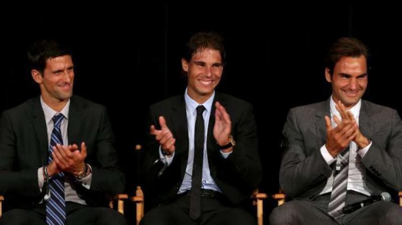 THE BIG THREE: Novak Djokovic, Rafael Nadal and Roger Federer. Courtesy ThisBlogs