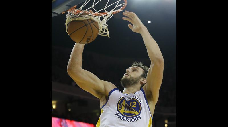 Former Golden State Warriors' player Andrew Bogut of Australia. AP Photo