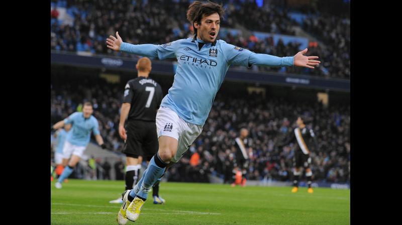 Manchester City's David Silva. AFP Photo