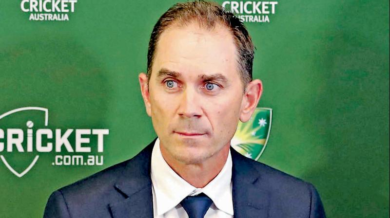 Australian cricket team's head coach Justin Langer. DC File Photo