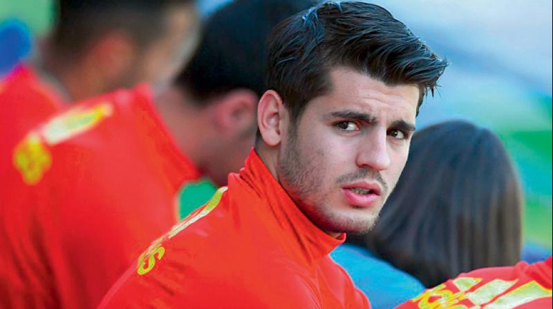 'I am happy here and I want to be here for the rest of my career', said Morata. (Photo: File)