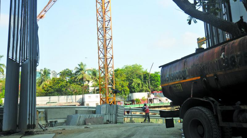 The construction site in question of Rustomjee  Developers at BKC. (Photo: Debasish Dey)