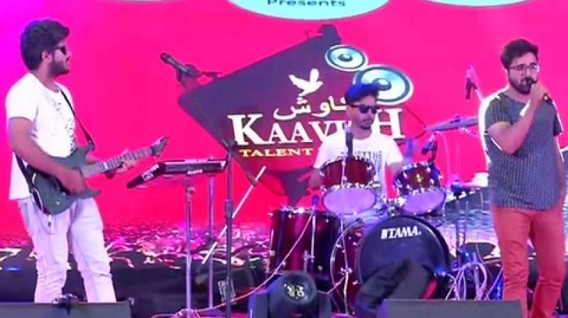 Artists performing at Kaavish organise by CRPF in Srinagar. (Photo: ANI)