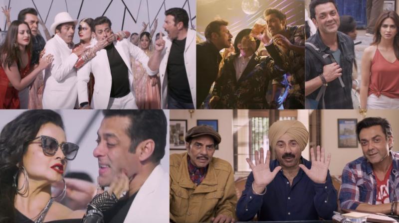 Screengrabs from 'Yamla Pagla Deewana Phir Se' trailer.